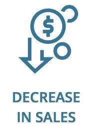 Decrease in sales